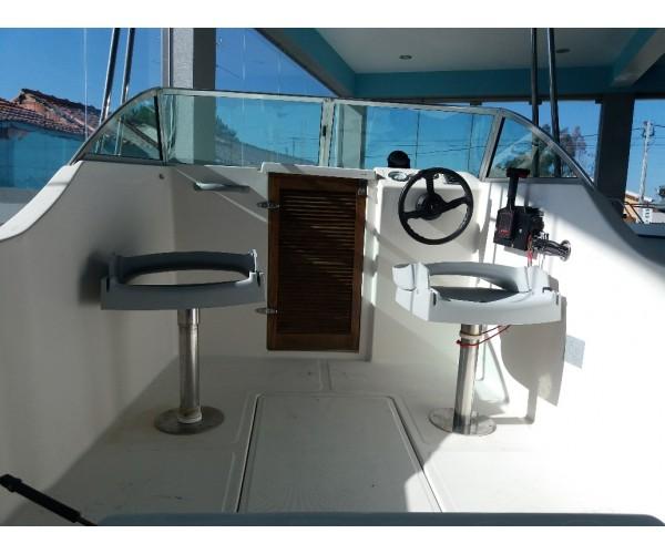2.7 barco Delfyn 520 com motor selva 60hp 4tempos igual YAMAHA